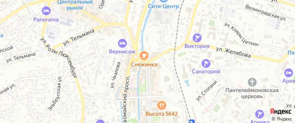 Заводская улица на карте Кисловодска с номерами домов
