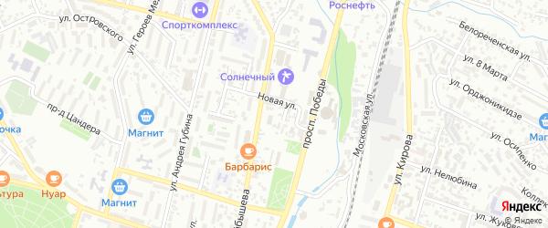 Переулок Куйбышева на карте Кисловодска с номерами домов