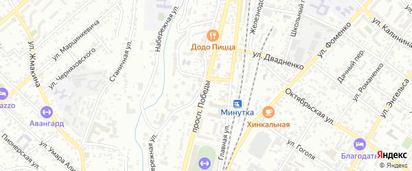 Проспект Победы на карте Кисловодска с номерами домов