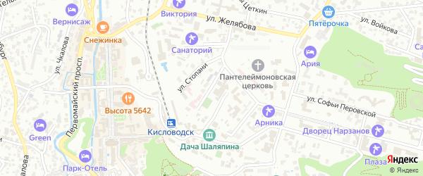Улица Хмельницкого на карте Кисловодска с номерами домов