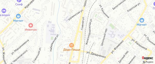 Аллейный переулок на карте Кисловодска с номерами домов