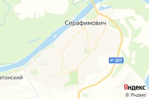 Карта г. Серафимович Волгоградская область
