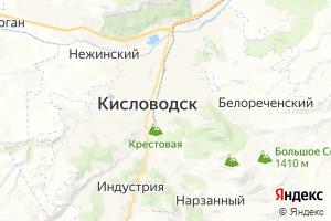 Карта г. Кисловодск Ставропольский край