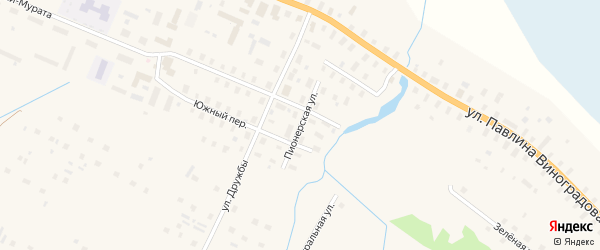Пионерская улица на карте поселка Березника с номерами домов