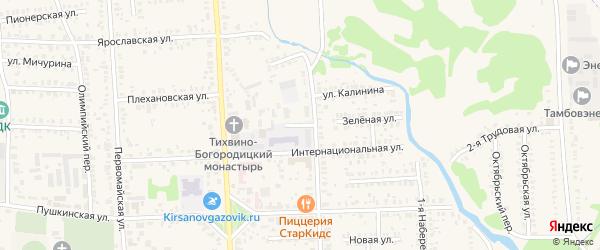 Улица Кирсановский аграрный техникум на карте Кирсанова с номерами домов