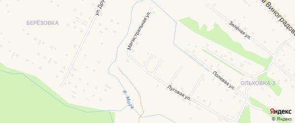 Крестьянский переулок на карте поселка Березника Архангельской области с номерами домов