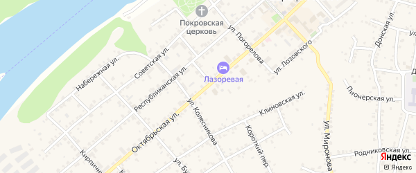 Октябрьская улица на карте Серафимовича с номерами домов
