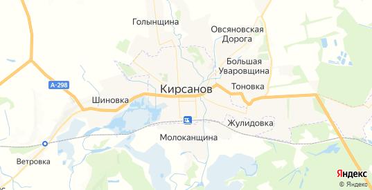 Карта Кирсанова с улицами и домами подробная. Показать со спутника номера домов онлайн