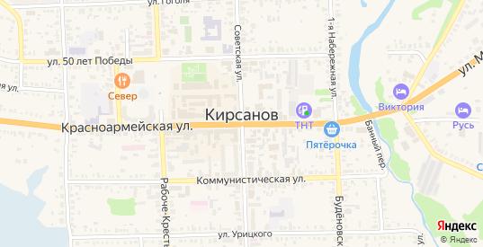 Улица 13 Околоток в Кирсанове с номерами домов на карте. Спутник и схема онлайн