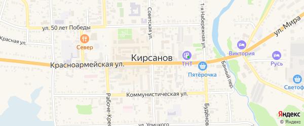 Улица 13 Околоток на карте Кирсанова с номерами домов