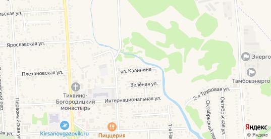 Улица Калинина в Кирсанове с номерами домов на карте. Спутник и схема онлайн