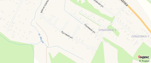Солнечная улица на карте поселка Березника Архангельской области с номерами домов