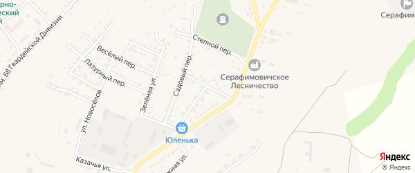 Лесной переулок на карте Серафимовича с номерами домов