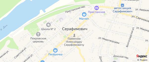 Поселок Кирпичного завода на карте Серафимовича с номерами домов