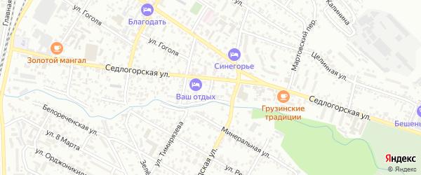 Седлогорский переулок на карте Кисловодска с номерами домов