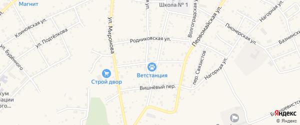 Пономаревская улица на карте Серафимовича с номерами домов