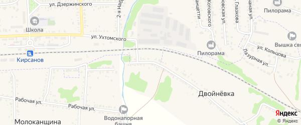 Железнодорожная будка 572 км на карте Кирсанова с номерами домов