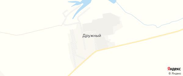 Карта Дружного поселка в Пензенской области с улицами и номерами домов