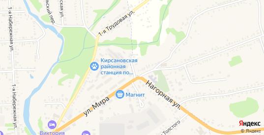 Улица Чамбарный Тракт в Кирсанове с номерами домов на карте. Спутник и схема онлайн