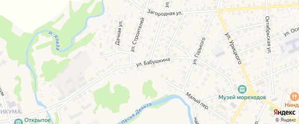 Улица Бабушкина на карте Тотьмы с номерами домов