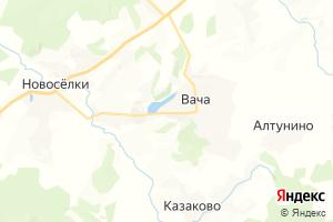 Карта пос. Вача Нижегородская область