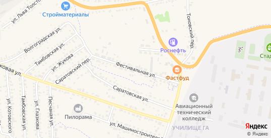 Фестивальная улица в Кирсанове с номерами домов на карте. Спутник и схема онлайн