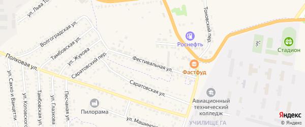 Фестивальная улица на карте Кирсанова с номерами домов