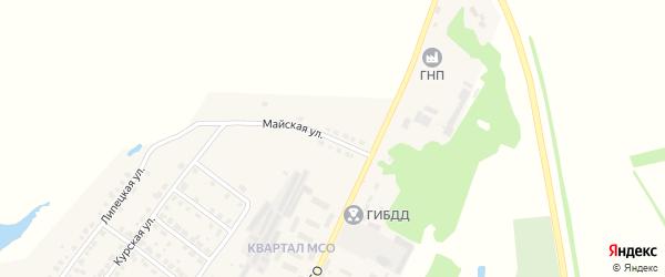 Майская улица на карте поселка Овсяновская Дороги Тамбовской области с номерами домов