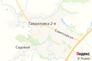 Карта с. 2-я Гавриловка Тамбовская область