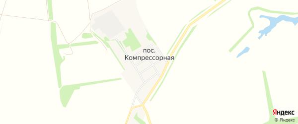 Карта поселка Компрессорной в Тамбовской области с улицами и номерами домов