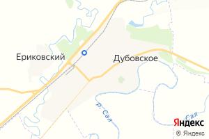 Карта с. Дубовское Ростовская область