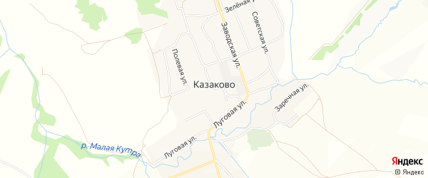 Территория МЕТАЛЛИСТ на карте села Казаково Нижегородской области с номерами домов