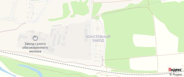 Улица Консервный Завод на карте Кирсанова с номерами домов