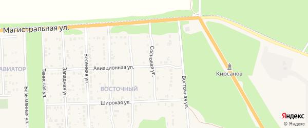 Сосновая улица на карте Кирсанова с номерами домов