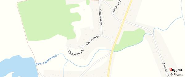 Садовая улица на карте Подгорного села Пензенской области с номерами домов