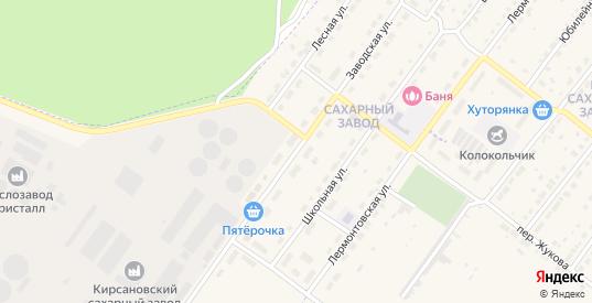 Заводская улица в Кирсанове с номерами домов на карте. Спутник и схема онлайн