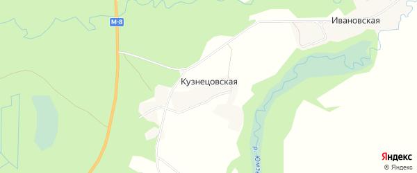 Карта Кузнецовской деревни в Архангельской области с улицами и номерами домов