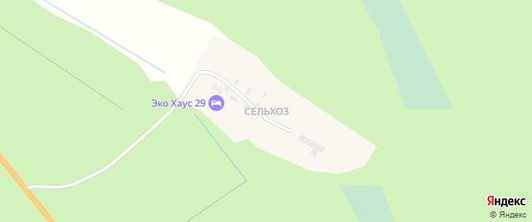 Квартал Жилой массив Сельхоз на карте поселка Березника с номерами домов