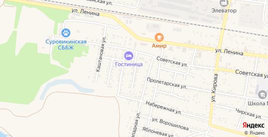 Заречный переулок в Суровикино с номерами домов на карте. Спутник и схема онлайн
