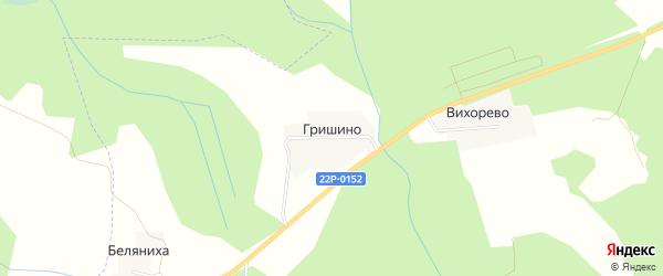 Карта деревни Гришино в Нижегородской области с улицами и номерами домов