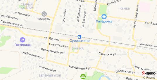 Карта поселка Новостройка в Суровикино с улицами, домами и почтовыми отделениями со спутника онлайн