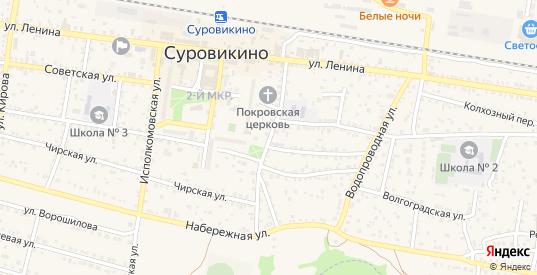 Первомайская улица в Суровикино с номерами домов на карте. Спутник и схема онлайн