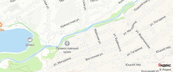Территория гк Западный на карте Ессентуков с номерами домов