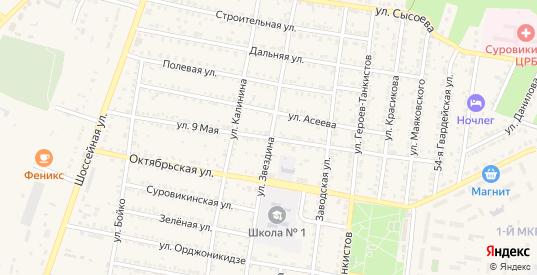 9 Мая улица в Суровикино с номерами домов на карте. Спутник и схема онлайн