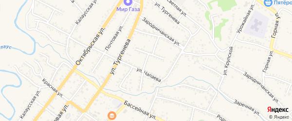 Пролетарская улица на карте Светлограда с номерами домов