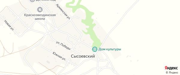 Новая улица на карте Сысоевского хутора Волгоградской области с номерами домов