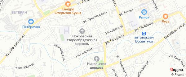 Улица Крупской на карте Ессентуков с номерами домов