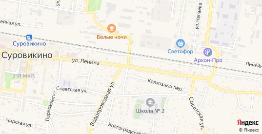 Улица Ленина в Суровикино с номерами домов на карте. Спутник и схема онлайн