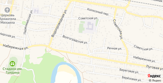 Волгоградская улица в Суровикино с номерами домов на карте. Спутник и схема онлайн