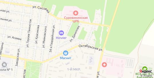 Апрельская улица в Суровикино с номерами домов на карте. Спутник и схема онлайн